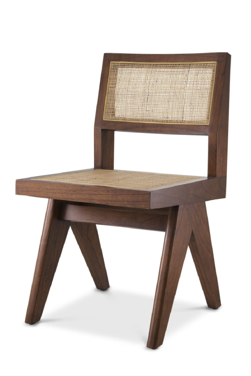 Brown Rattan Cane Dining Chair | Eichholtz Niclas | Woodfurniture.com