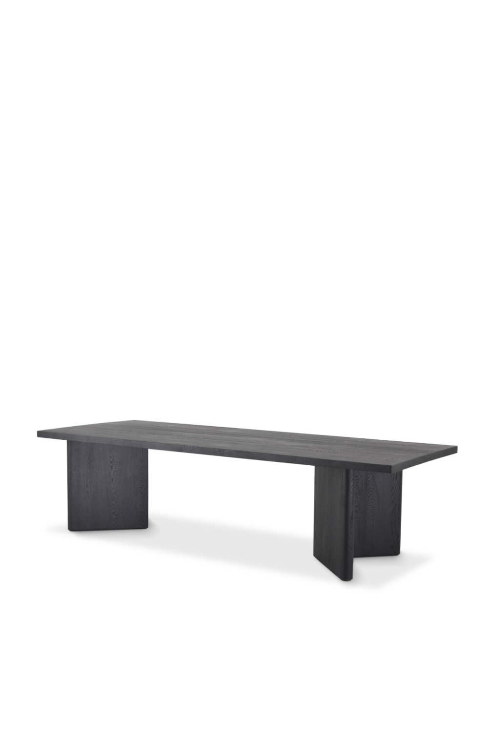 Rectangular Black Oak Dining Table | Eichholtz Valbonne