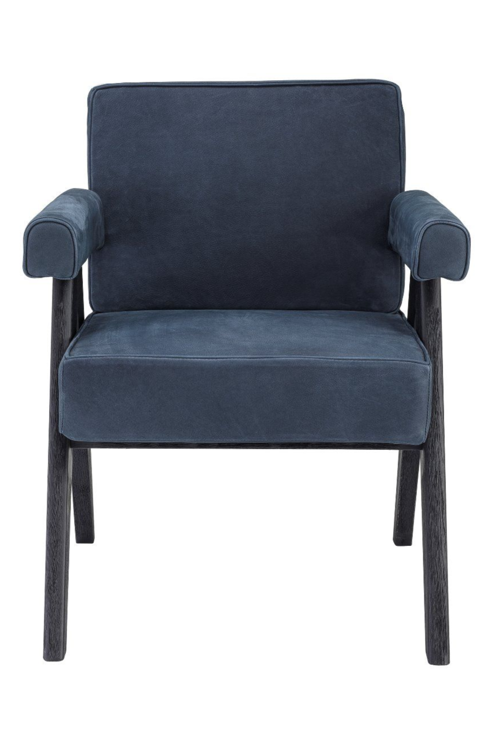 Blue Wooden Leg Dining Armchair | Eichholtz Matteus | Woodfurniture.com