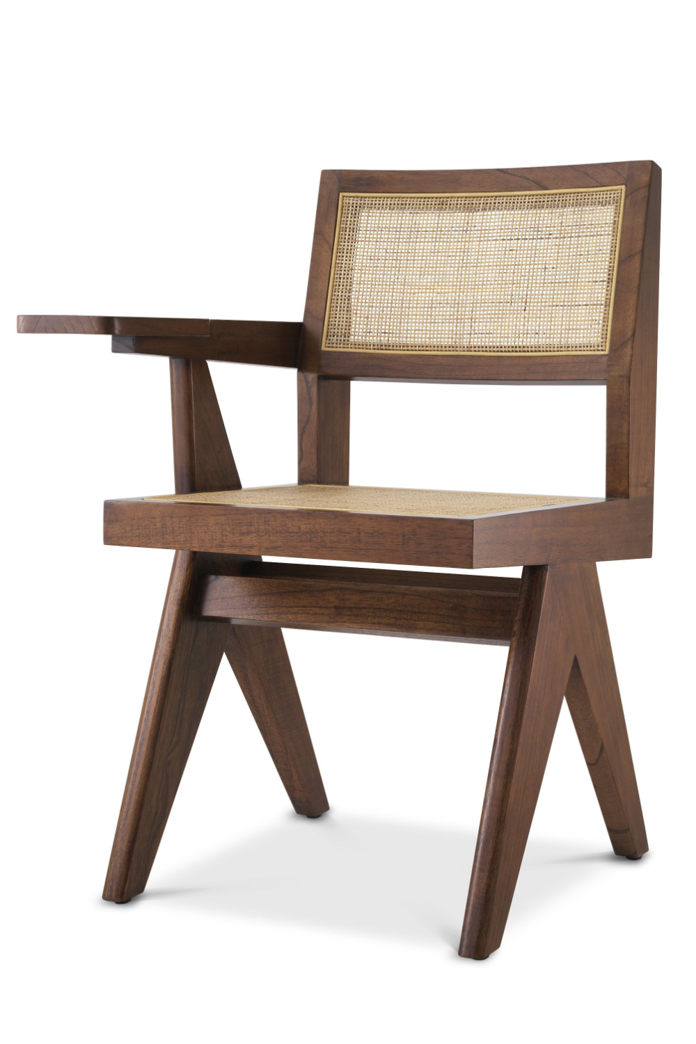 Brown Rattan Chair with Desk | Eichholtz Niclas | Woodfurniture.com