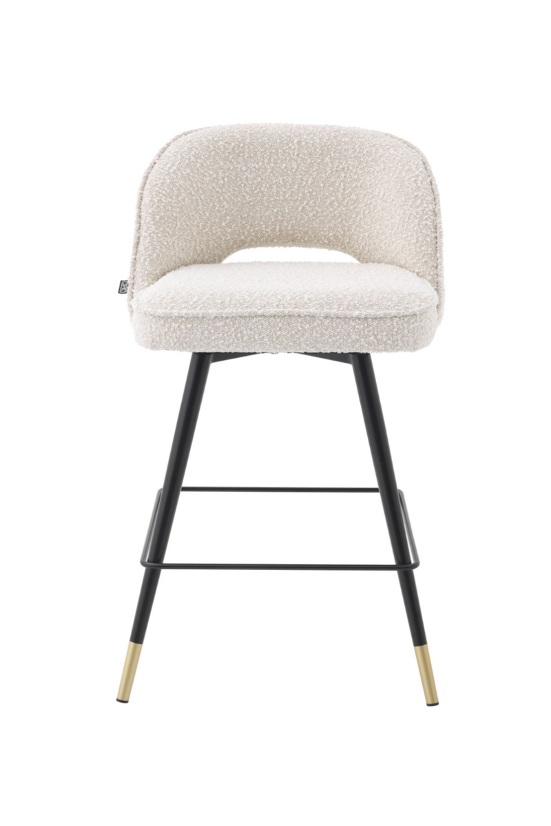 Bouclé Cream Counter Stools (2) | Eichholtz Cliff