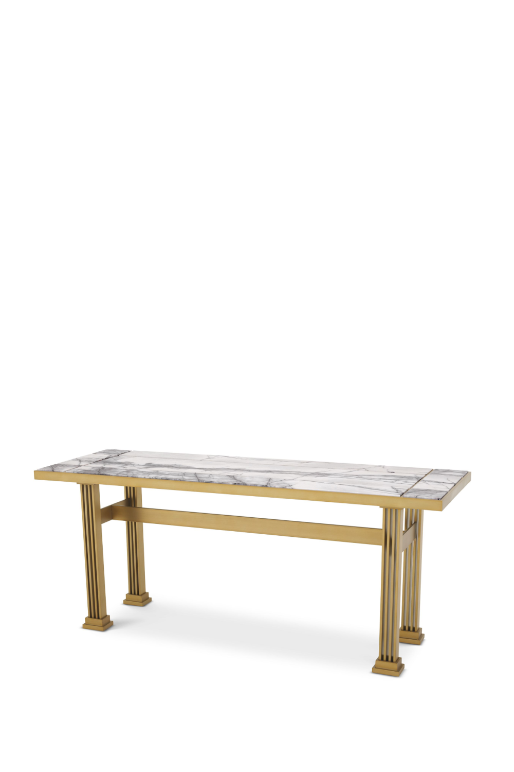 Brass Marble Top Console Table | Eichholtz The One | OROA