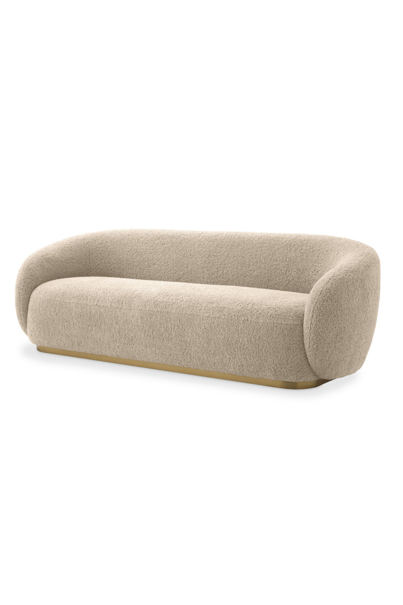 Plush Sand Messing Base Sofa | Eichholtz Brice | # 1 Eichholtz-forhandler