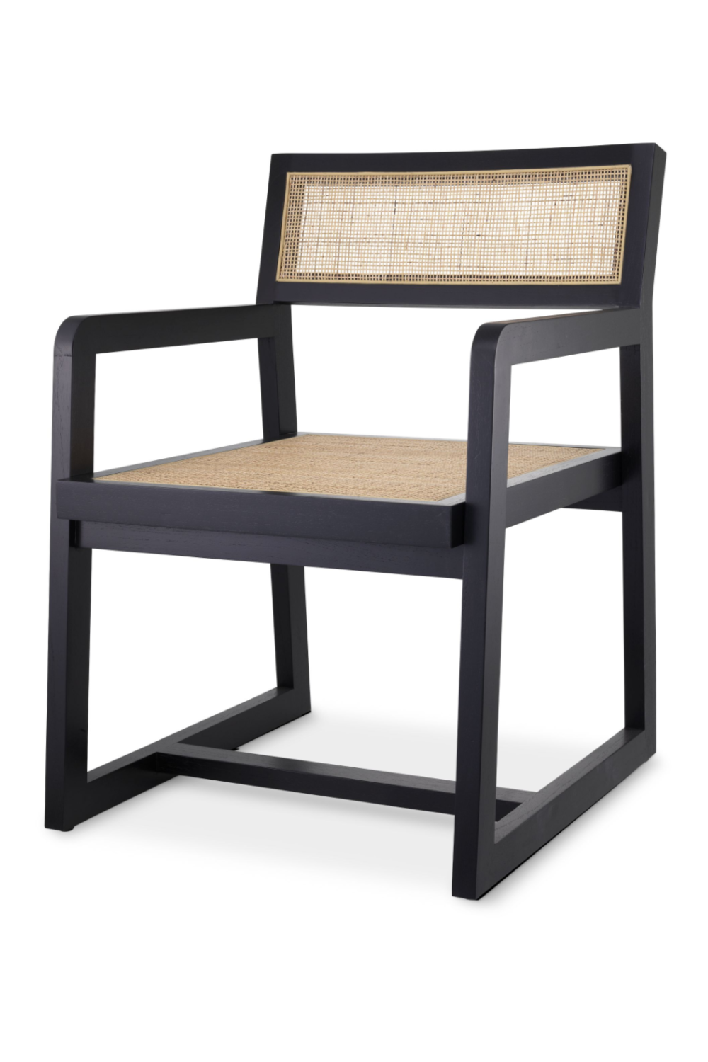Black Rattan Dining Armchair | Eichholtz Dinant | Woodfurniture.com