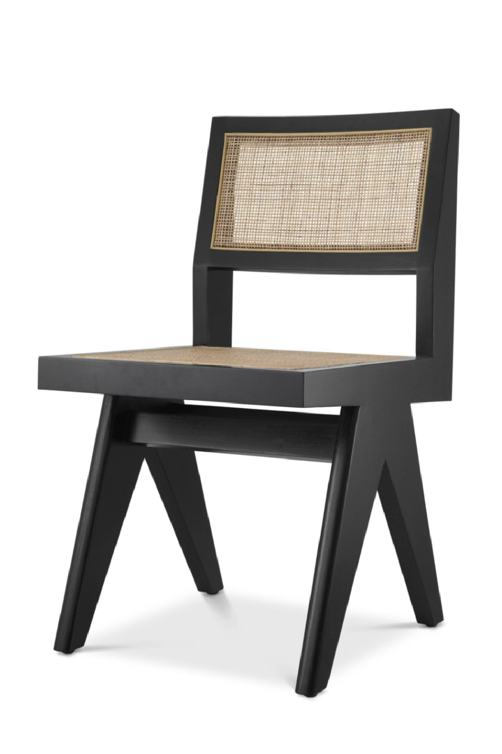 Black Rattan Cane Dining Chair | Eichholtz Niclas | Woodfurniture.com
