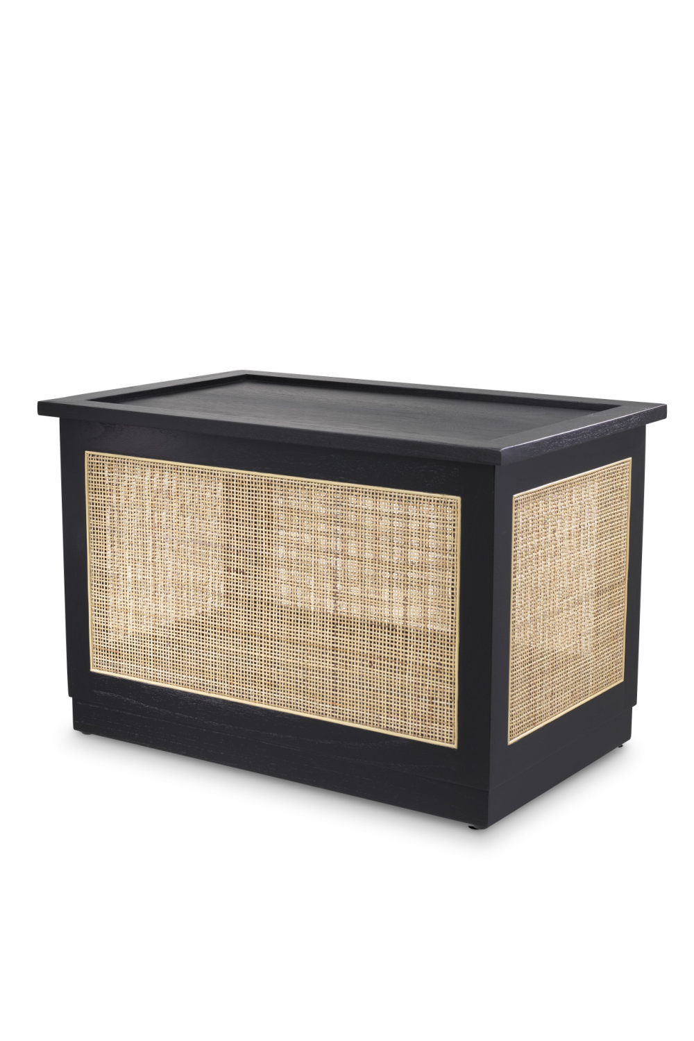 Black Rattan Cane Trunk | Eichholtz Philbert | Woodfurniture.com