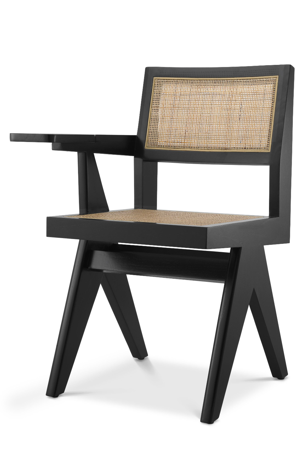 Black Rattan Chair with Desk | Eichholtz Niclas | Woodfurniture.com