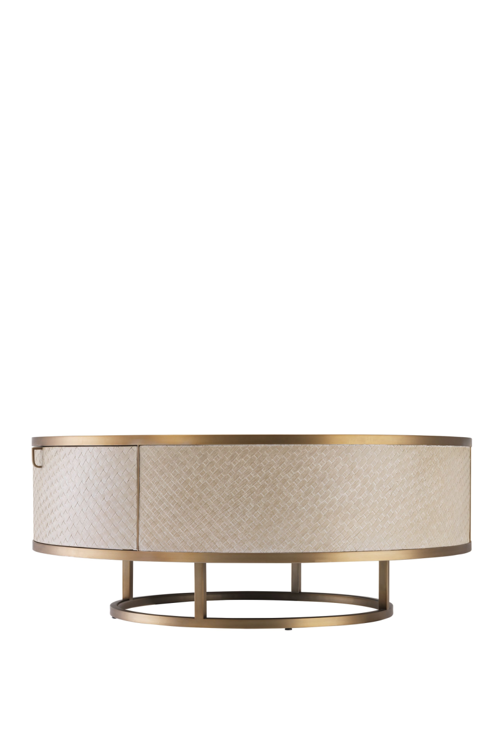 Brass Oak Round Coffee Table | Eichholtz  | #1 Eichholtz Retailer
