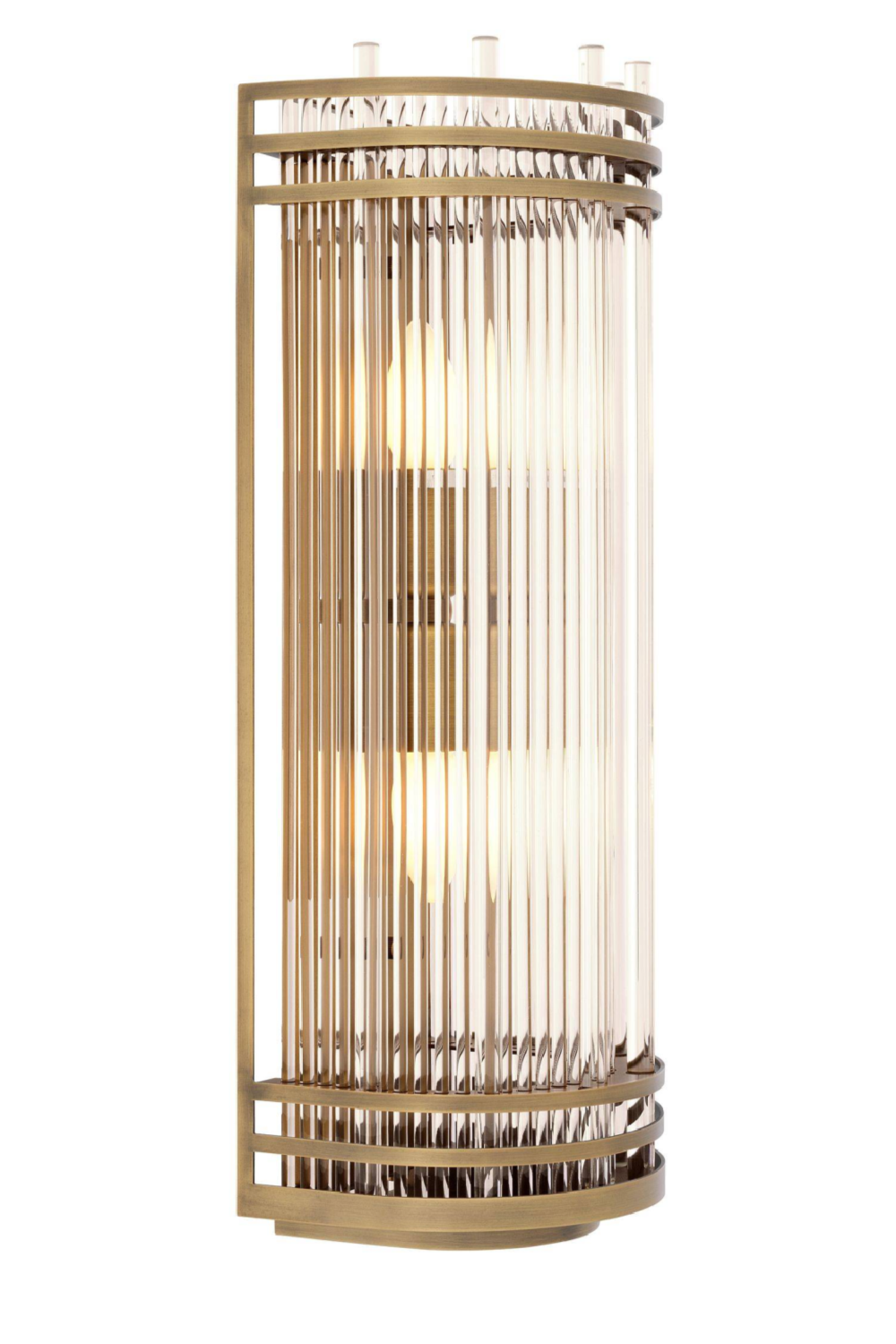 Antique Brass Glass Wall Lamp | Eichholtz Gulf L | OROA