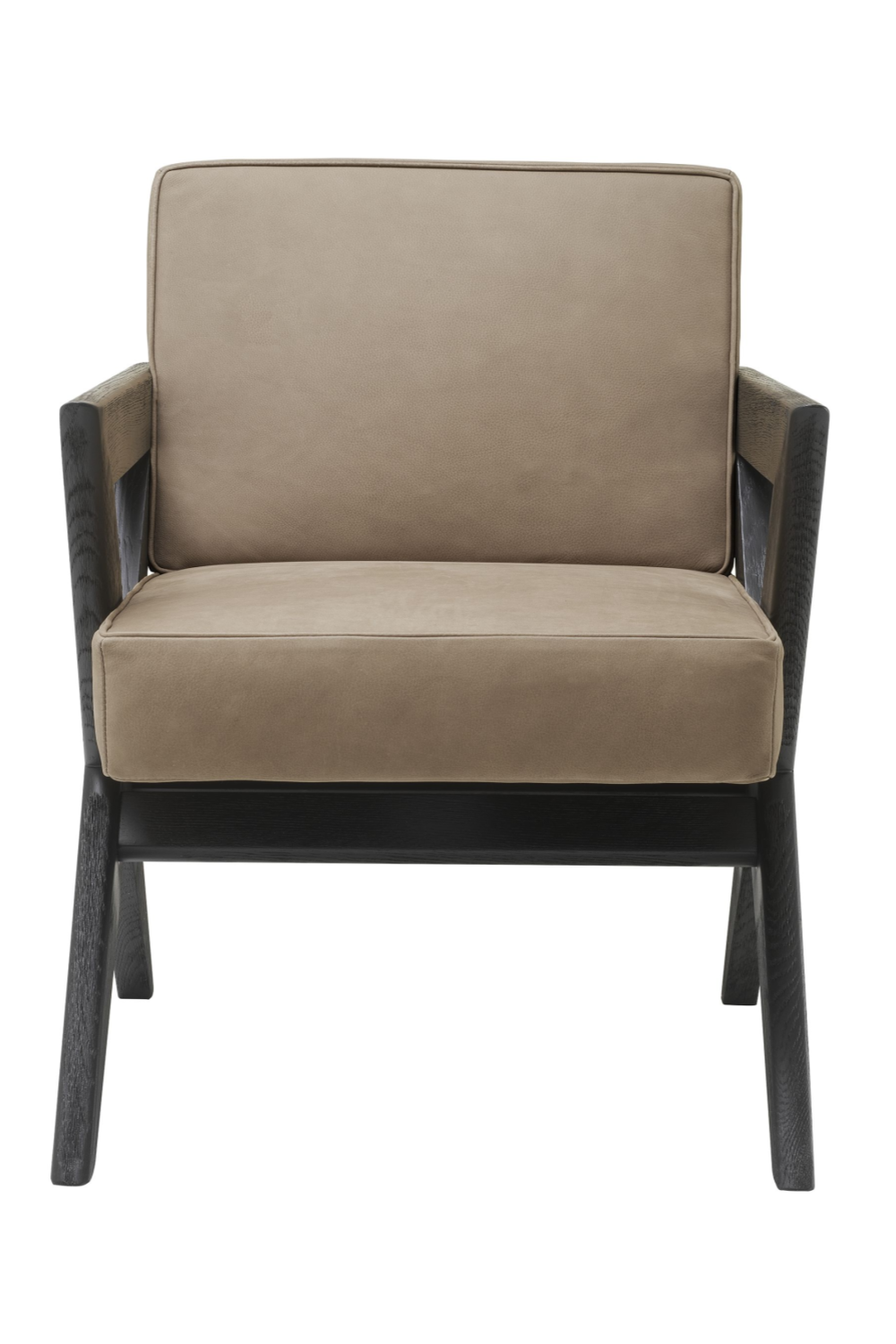 Beige Oak X-Legged Dining Chair | Eichholtz Felippe