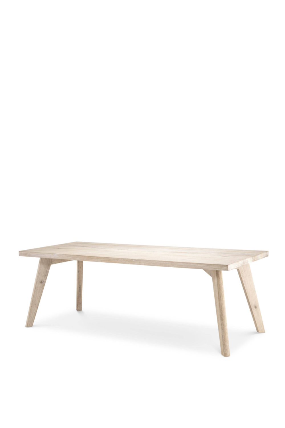 Rectangular Bleached Oak Dining Table | Eichholtz Biot | OROA