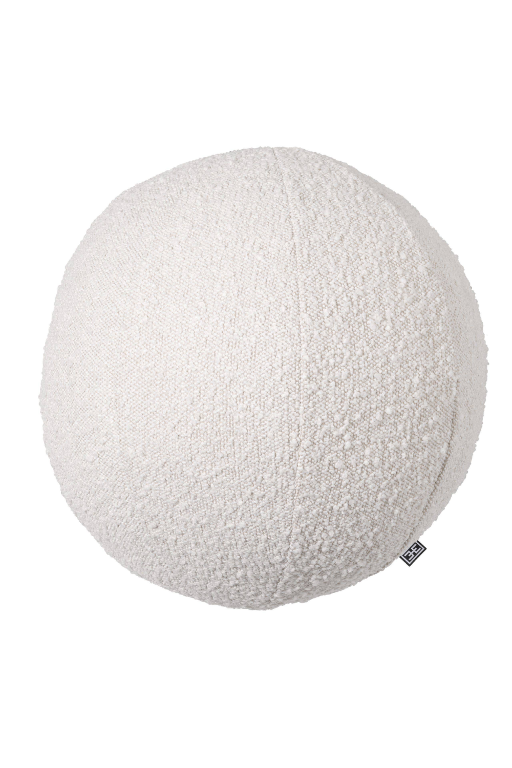 Boucle Cream Ball Shaped Pillow - Eichholtz Palla L | OROA