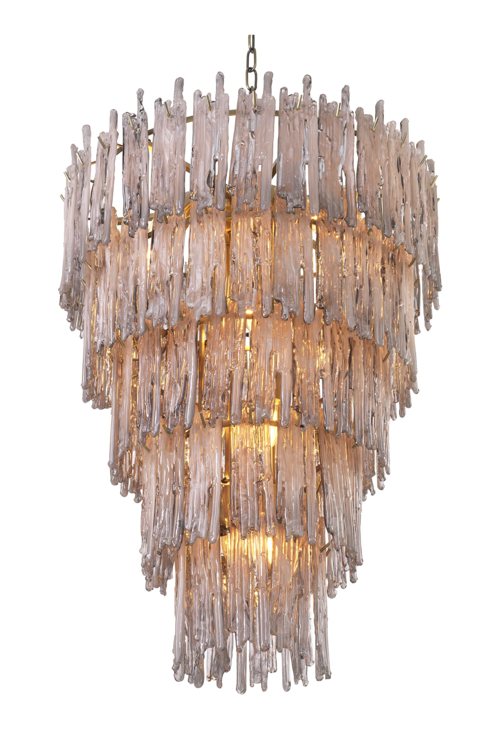Smoked Glass Layered Chandelier L | Eichholtz Saint Roch | OROA