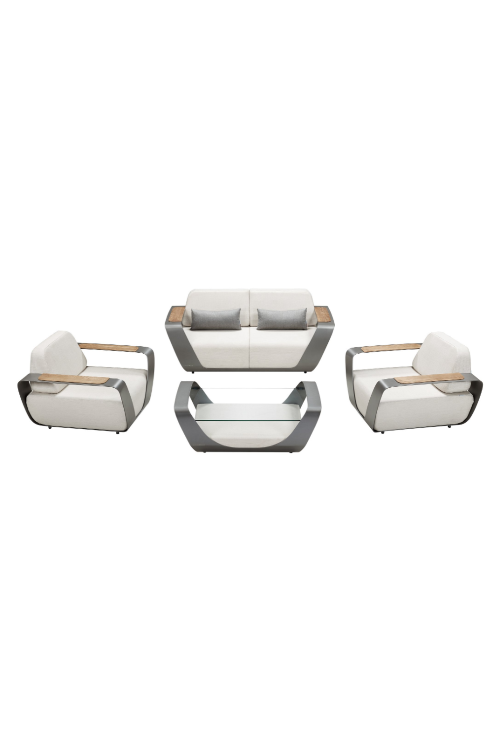 2-Seater Outdoor Lounge Set | Higold Pininfarina - White | OROA