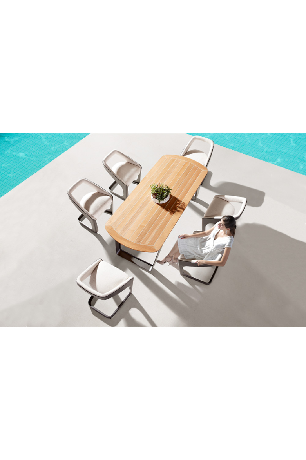 Outdoor Dining Set of 6 | Higold Pininfarina | OROA Luxury Furniture
