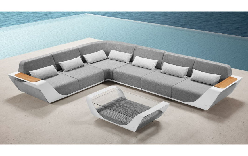 White Corner Lounge Set | Higold Pininfarina | OROA Modern Furniture