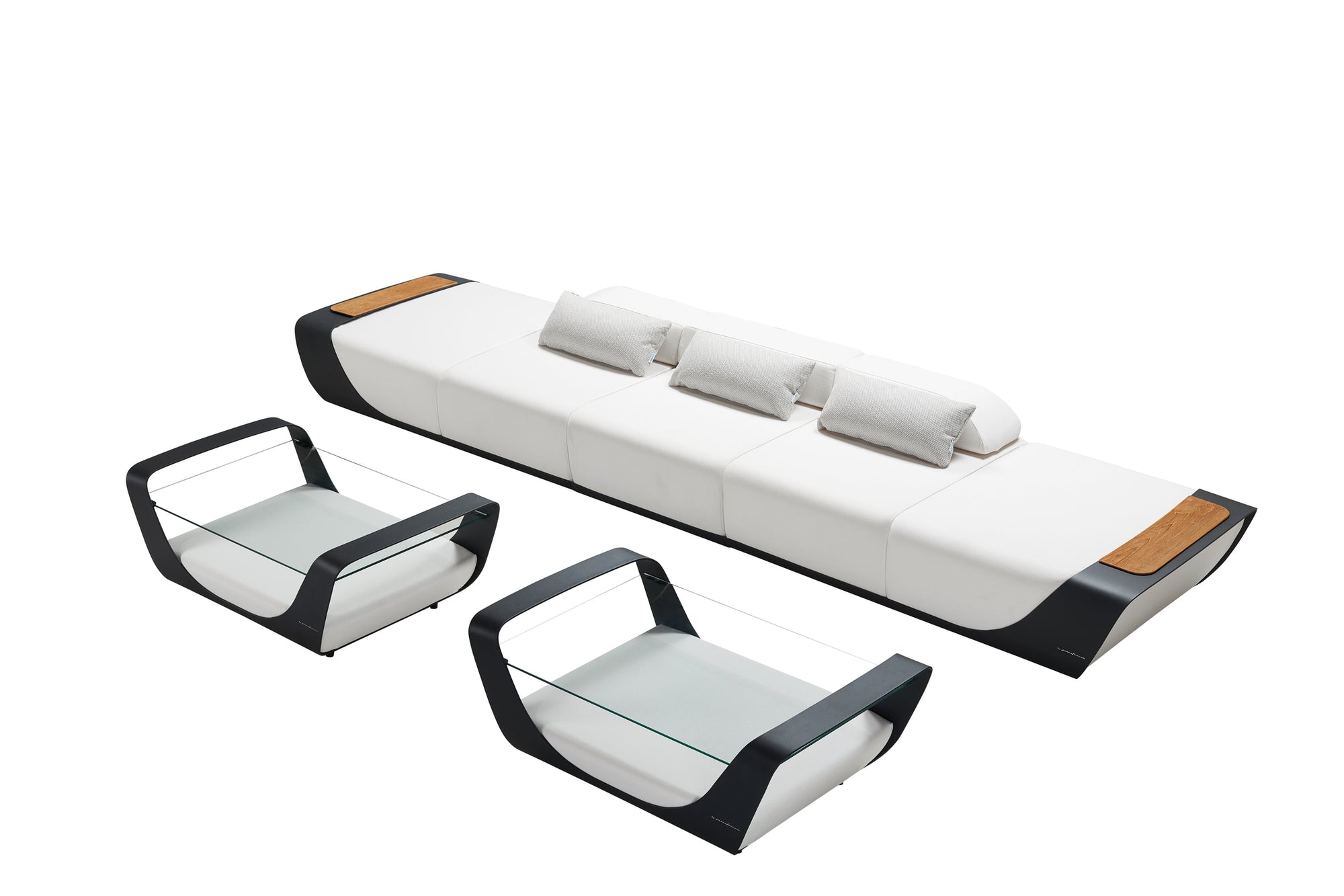 Single Sofa Outdoor Lounge Set | Higold Pininfarina | OROA Furniture
