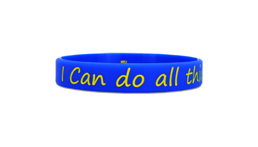 I Can Blue/Yellow - SOLEBANDZ - Steph Curry Wristband