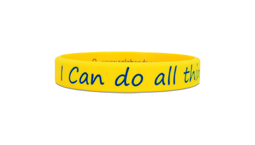 I Can Yellow/Blue - SOLEBANDZ - Steph Curry Wristband