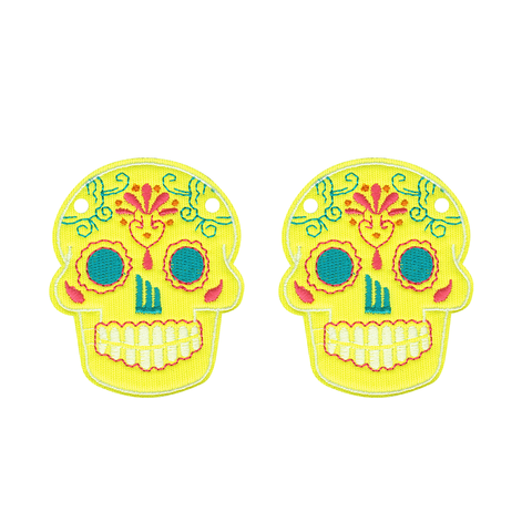 Sugar Skull Yellow Neon