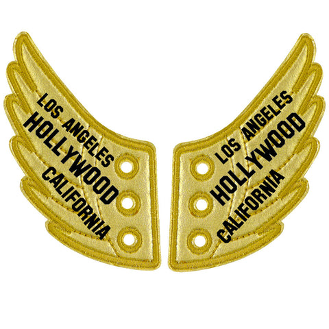 LA HOLLYWOOD CALI GOLD FOIL WINGS