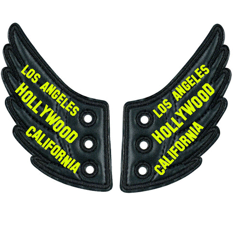 LA HOLLYWOOD CALI BLK FOIL WINGS