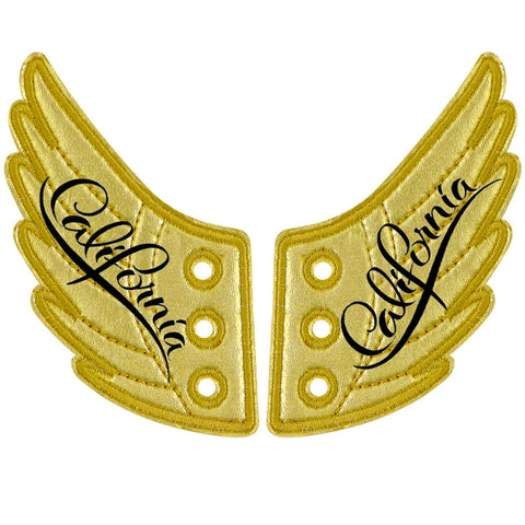 CALIFORNIA GOLD FOIL WINGS