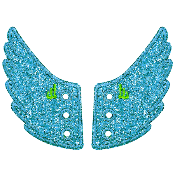 Turquoise Sparkle Wings