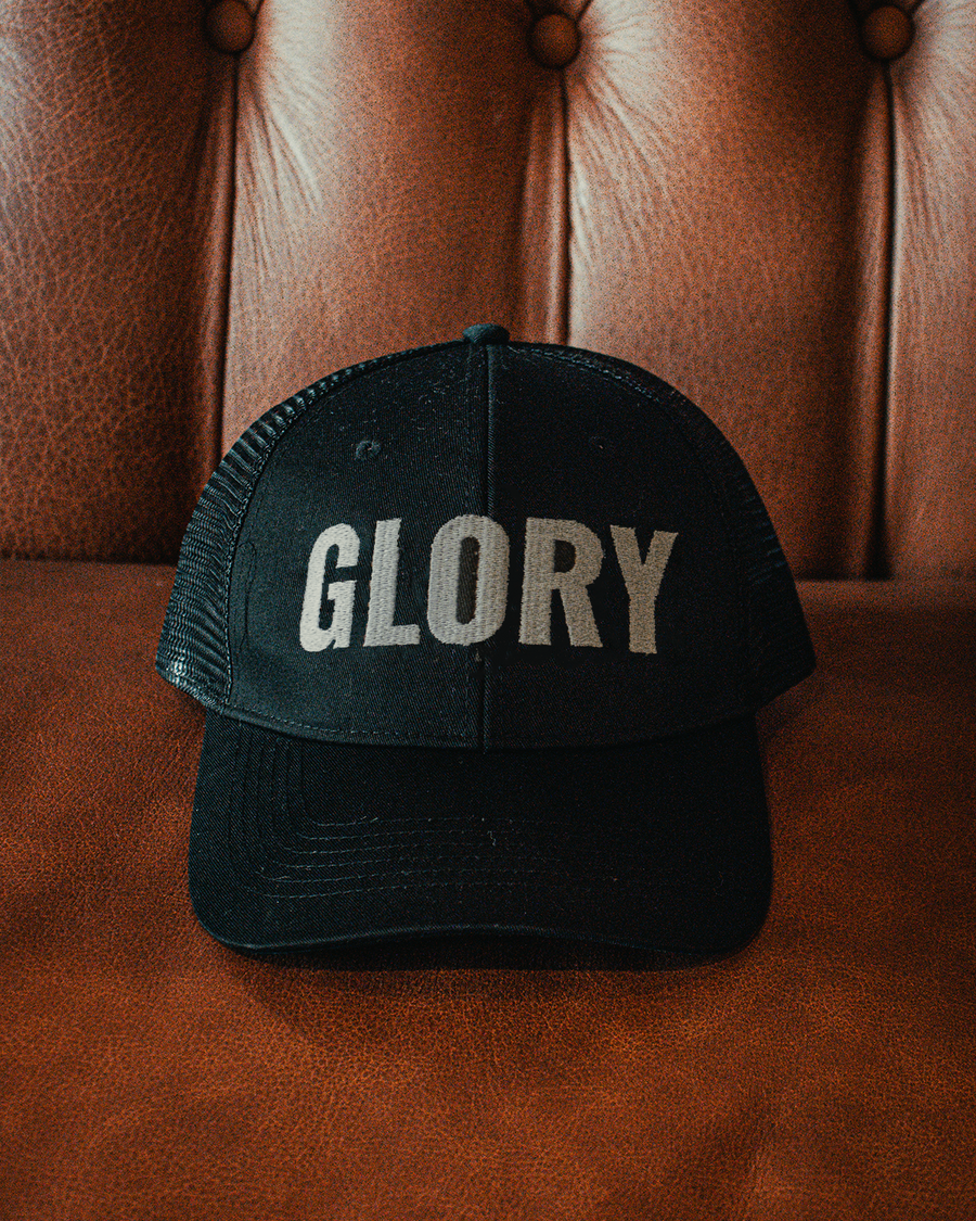 'Glory' Mesh Trucker Cap - Black