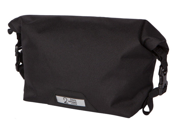 Two Wheel Gear - Dayliner Mini Handlebar Bag - Black - Rolled Up (4431905030204)