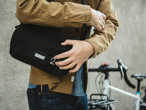 Black, Graphite - Two Wheel Gear - Mini Messenger Handlebar Bag - Commuter - Man - Sling (2351627206716)