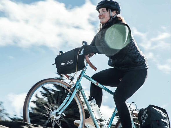 Black, Graphite - Two Wheel Gear - Mini Messenger Handlebar Bag - Commuter - Woman - Fun (2351627206716)
