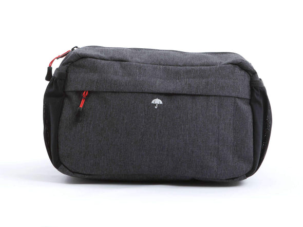 Graphite - Two Wheel Gar - Mini Messenger Handlebar Bag - Front Open (2351627206716)