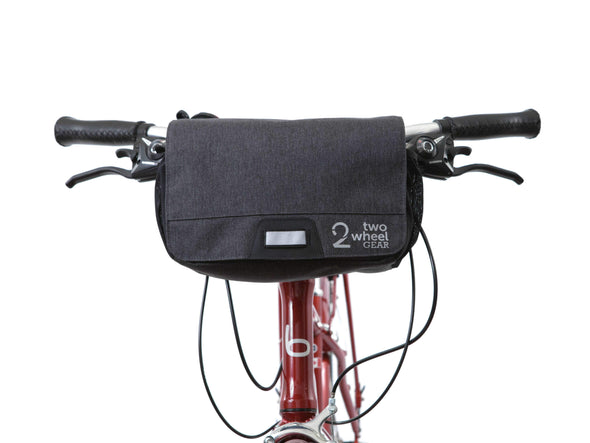 Graphite - Two Wheel Gar - Mini Messenger Handlebar Bag - Front Mounted Closed (2351627206716)