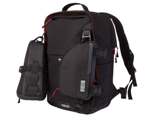 Two Wheel Gear - Pannier Backpack LITE - Black - 3 bags - Modular Attachment System