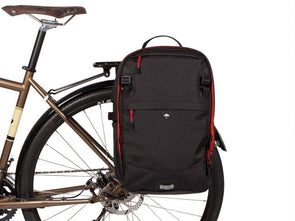 Two Wheel Gear - Pannier Backpack LITE - Black - On Bike