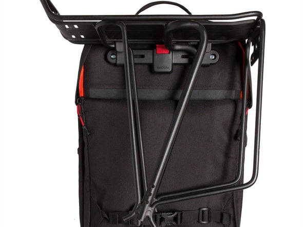 Two Wheel Gear - Pannier Backpack PLUS (30 L) - Black - Back - Bike Bag - Rack Mounting (4430361919548)
