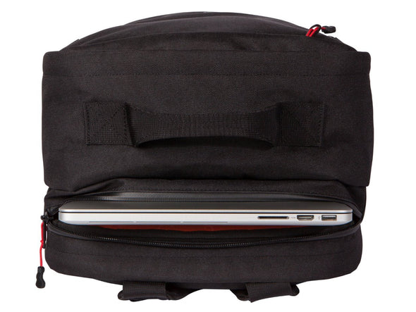 Two Wheel Gear - Pannier Backpack PLUS (30 L) - Black - Bike Bag - Laptop Pocket (4430361919548)