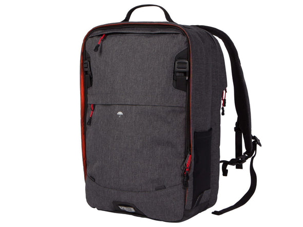 Two Wheel Gear - Pannier Backpack PLUS (30 L) - Graphite Grey - Front - Bike Bag (4430361919548)