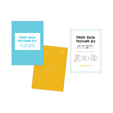 Dear Data Postcard Kit Giorgia Lupi, Stefanie Posavec