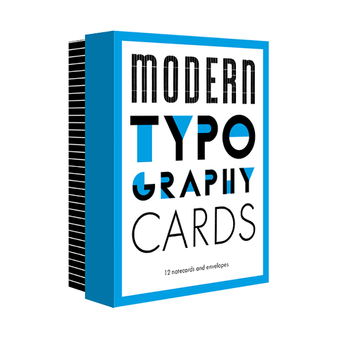 Modern Typography Notecards Princeton Architectural Press