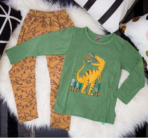 """BIG DINO"" Pajama Set - Offspring"