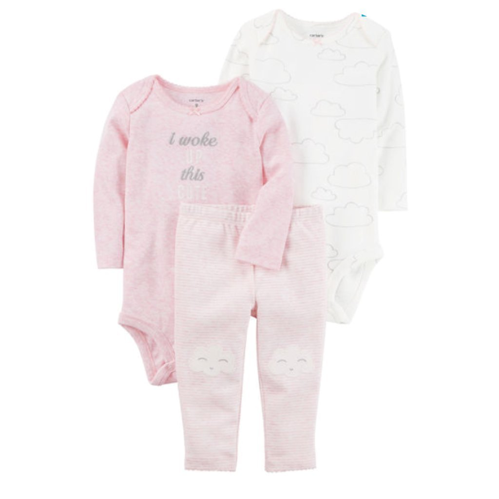 Carter's 3-Piece Heathered Little Character Set - Offspring