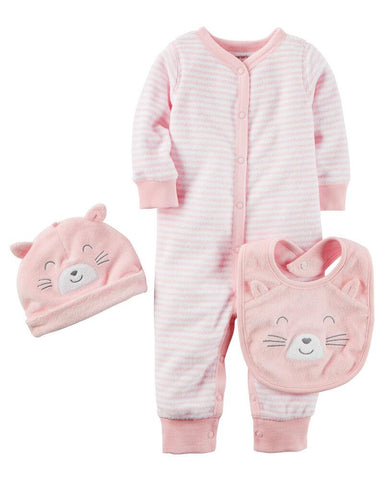 Carter's 3-Piece Terry Take-Me-Home Set - Offspring