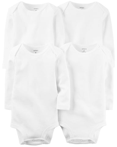 Carter's 4-Pack Long Sleeve Original Bodysuits - Offspring