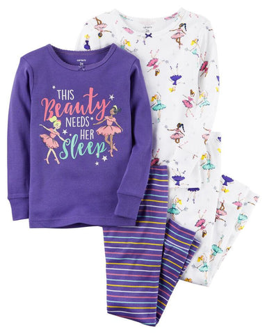 Carter's 4-Piece Ballerina Snug Fit Cotton PJs - Offspring