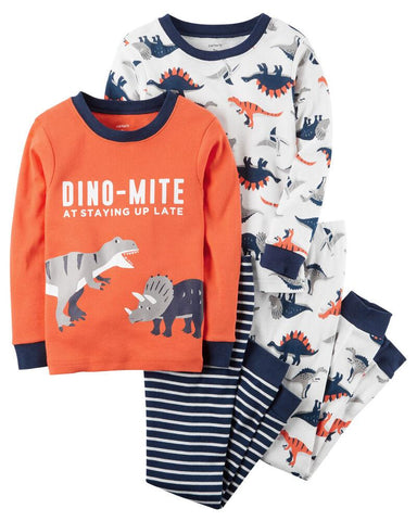 Carter's 4-Piece Dino-Mite Snug Fit PJs - Offspring