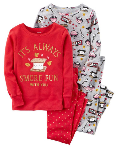 Carter's 4-Piece S'more Snug Fit Cotton PJs - Offspring