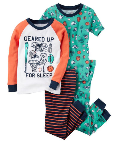 Carter's 4-Piece Sports Snug Fit Cotton PJs - Offspring