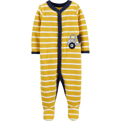 Carter's Construction Truck Snap-Up Cotton Sleep & Play - Offspring
